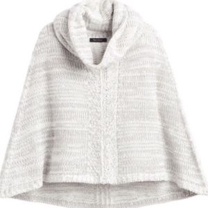 NWT Gray/Silver Poncho and Scarf